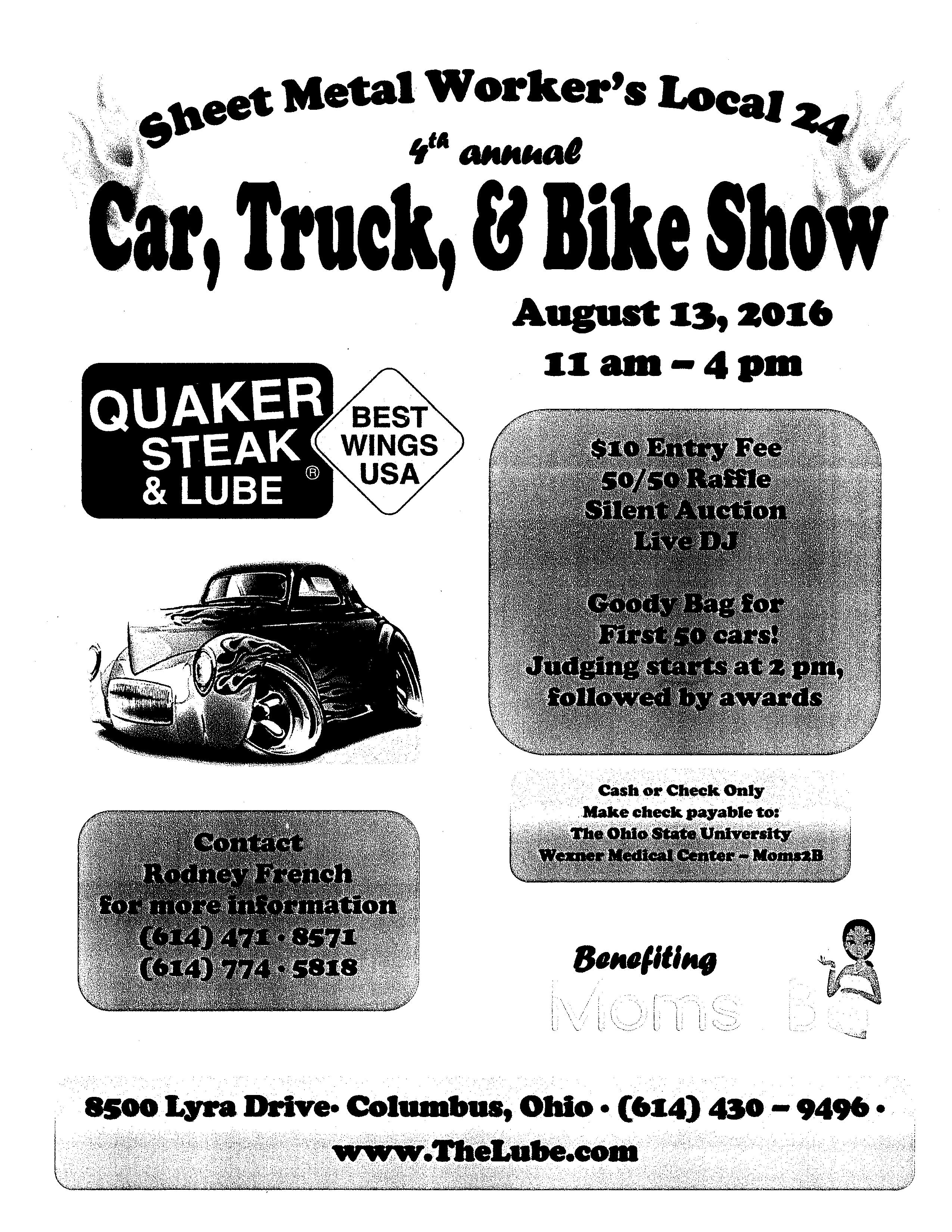 Sheet Metal Workers Local 24 Car Truck Amp Bike Show Qfm96